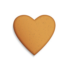 Gingerbread Cookie In The Shap...
