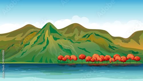 Aluminium Prints River, lake Land and water resources