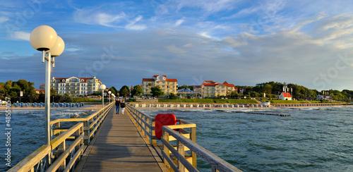Foto-Kissen - Seebrücke Kühlungsborn (von Fineart Panorama)