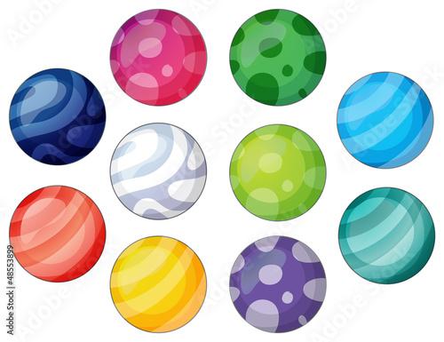Tablou Canvas Group of balls