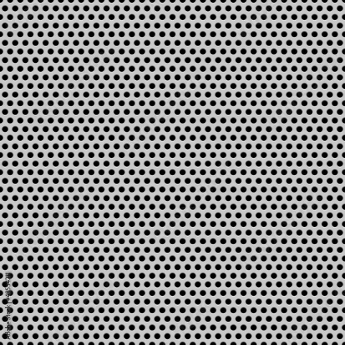 Vászonkép Seamless Circle Perforated Carbon Grill Texture