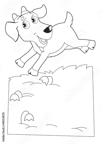 Foto auf Gartenposter Zum Malen The coloring plate - illustration for the children