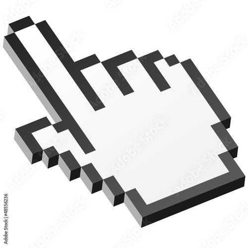 Staande foto Pixel 3D Pixelgrafik Hand - Zeigefinger