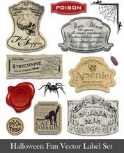 Fun Halloween Spoof Labels Set 2