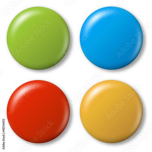 Fotografie, Obraz  4 farbige Magnete