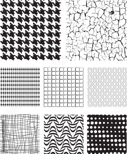 Photo  Seamless Repeat Vector Pattern Textures and fills.