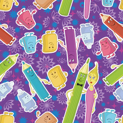 Seamless background, stationery