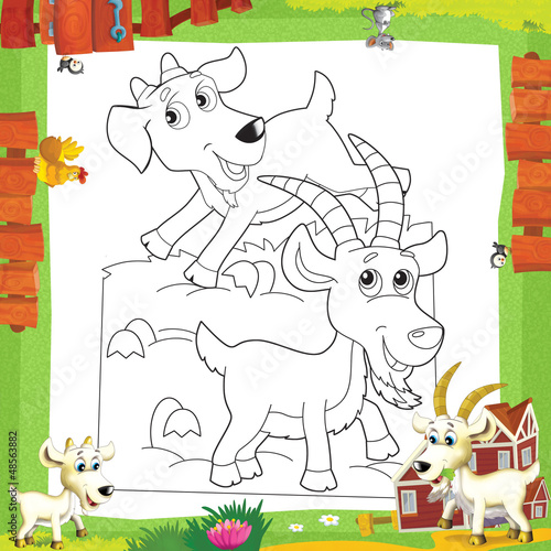 Spoed Foto op Canvas Doe het zelf The coloring plate - illustration for the children