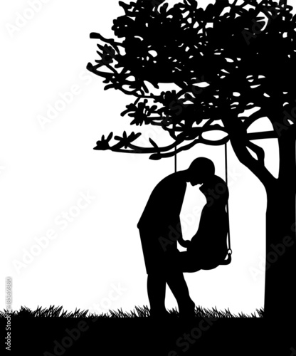 couple in love on valentine s day on a swing in park silhouette I Love the TV Holidays couple in love on valentine s day on a swing in park silhouette