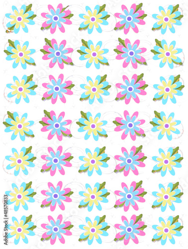 Blooming Petals on White Poster