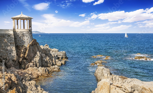 Foto-Leinwand - viewpoint in S'Agaro, Playa de Aro (Costa Brava), Catalonia, Spa