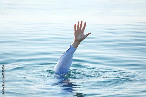 Fotografija Hand of drowning man