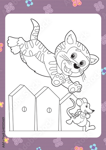 Door stickers Do it Yourself The coloring plate - illustration for the children
