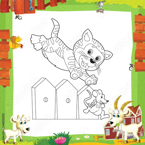 Aluminium Prints Do it Yourself The coloring plate - illustration for the children