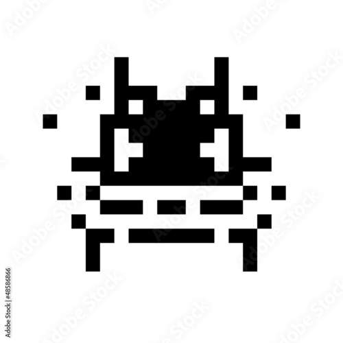 Photo sur Toile Pixel simple monster pixel face