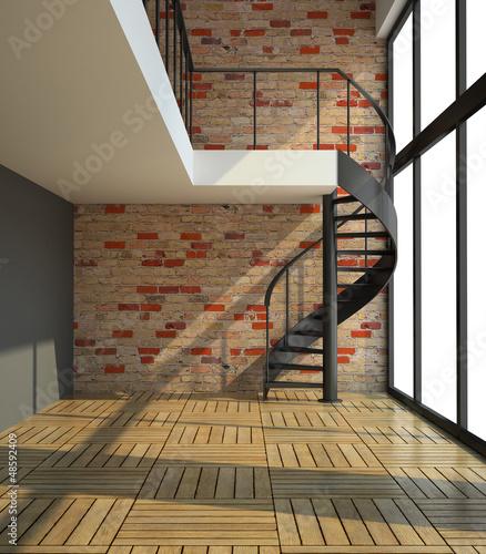 pusty-pokoj-z-schody-w-czekaniu-dla-lokatorow-ilustracyjnych