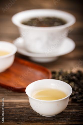Foto op Plexiglas Chocolade Chinese lidded bowl