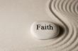 canvas print picture - Faith stone