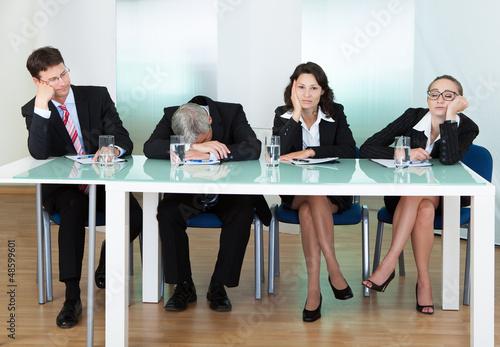 Fotografie, Obraz  Bored panel of judges or interviewers