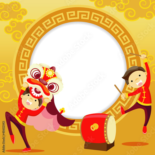 Chinese New Year Greeting Card - Buy this stock vector and explore ...