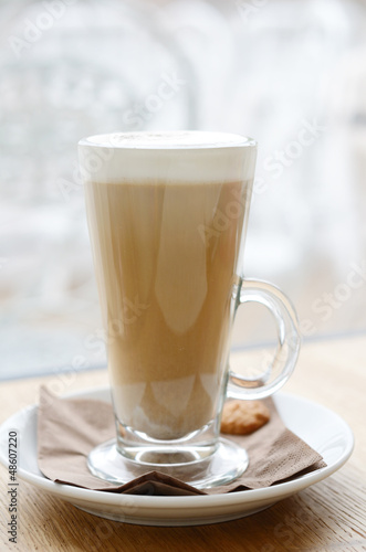 Fotografie, Obraz  Latte in high glass