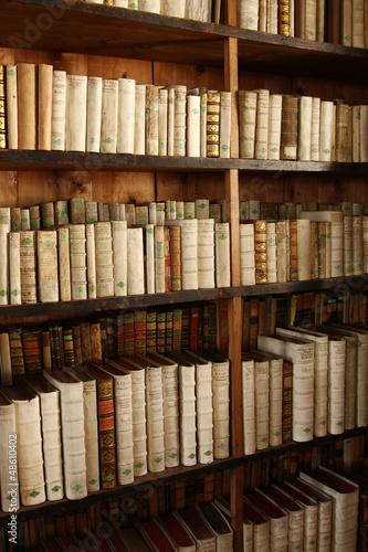 Poster Bibliotheque Bücherregal