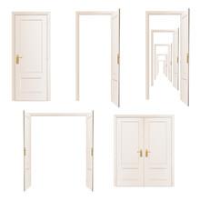 Collection Of Doors. Vector De...