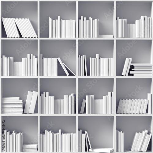 Poster Bibliotheque white bookshelves