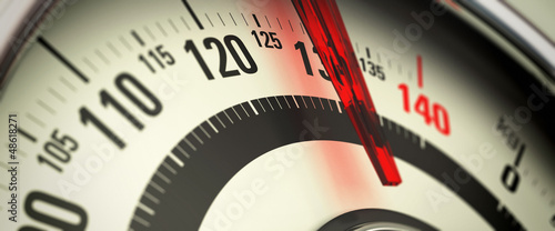 Fotografia  Overweight and Obesity, Bathroom Scale