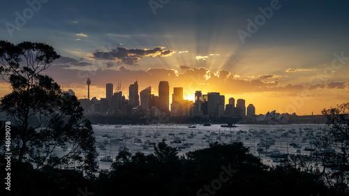 Foto auf Acrylglas Sydney Sydney Sunset