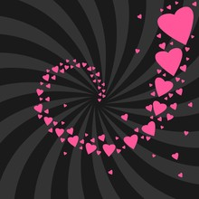 Love Swirl Vector Illustration