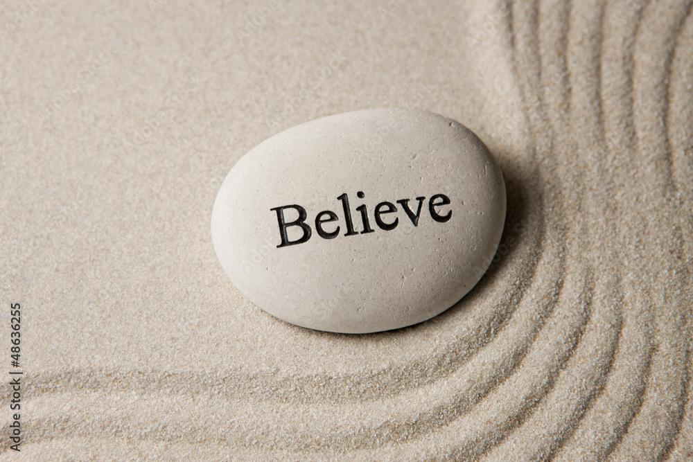 Fototapeta Believe stone