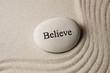 canvas print picture - Believe stone