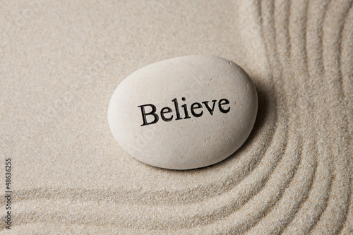 Photo  Believe stone