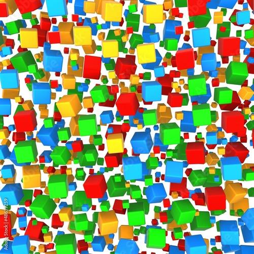Streszczenie sześcian kolorowe tło