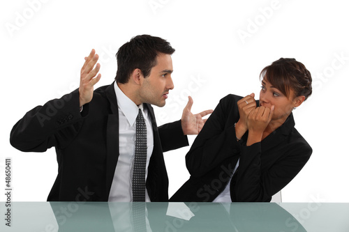 Canvas Print Workplace bully