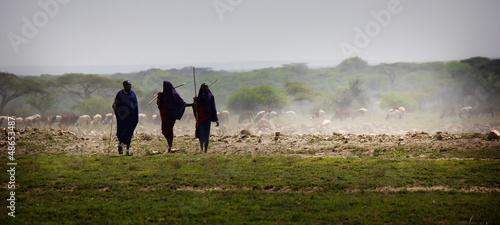 Staande foto Afrika maasai
