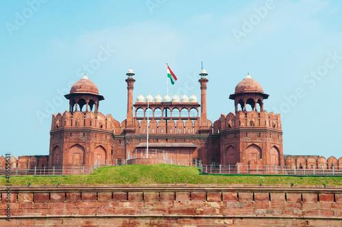 Autocollant pour porte Delhi Red Fort
