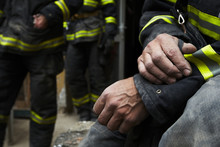 Sadness And Hope. Firefighter ...