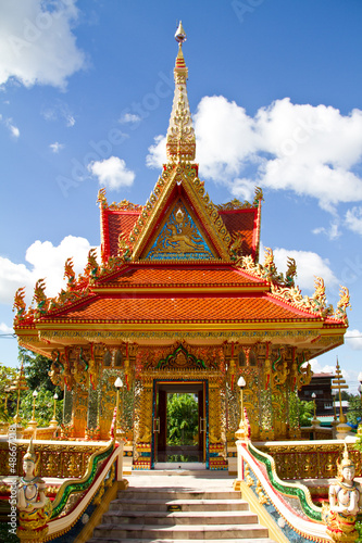 Thai stye art, Wat Liab, Ubonratchathani Province, Thailand Wallpaper Mural