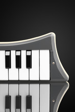 Melodica With Reflection On A Black Background
