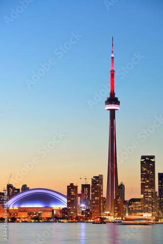Deurstickers Toronto Toronto skyline