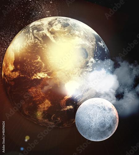 Naklejki kosmos obraz-planet-w-kosmosie