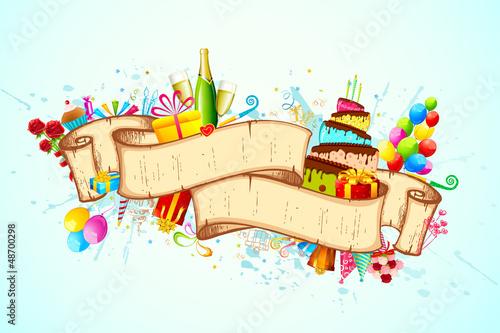 Printed kitchen splashbacks Castle Happy Birthday