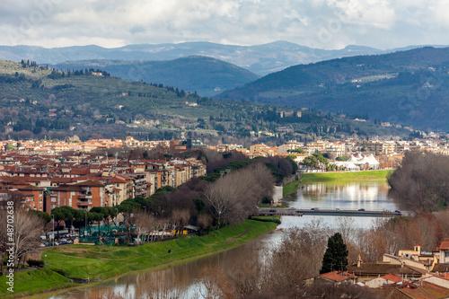 Fotobehang Liguria River Arno, Florence