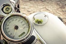 Old Motorcycle Speedometer