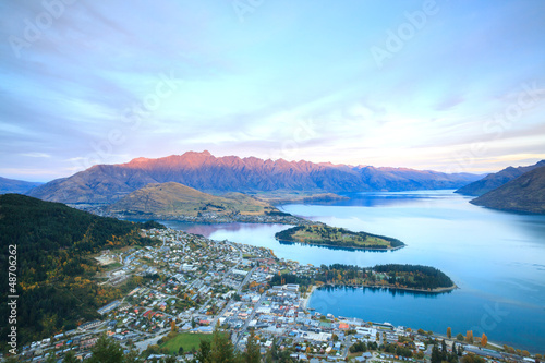 Canvas Prints New Zealand Queenstown New Zealand Sunset