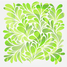 Abstract Background With Bright Green Curls And Swirl