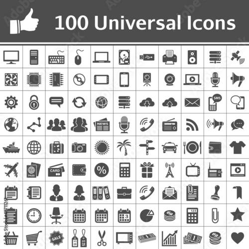 Fotografía  Universal Icon Set. 100 icons