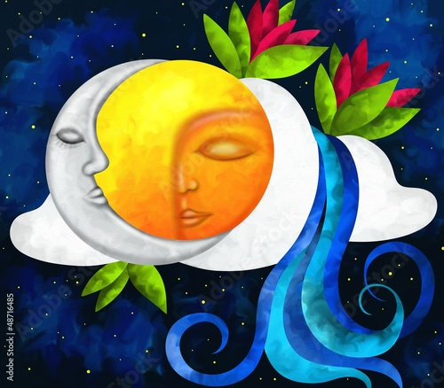 Obraz sole e luna - fototapety do salonu